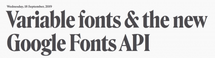 Google Variable fonts